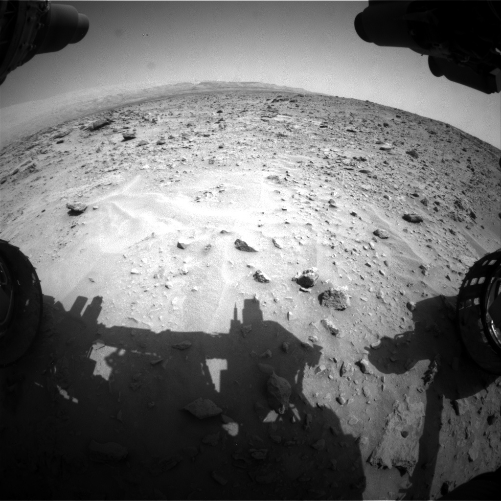 Nasa's Mars rover Curiosity acquired this image using its Front Hazard Avoidance Camera (Front Hazcam) on Sol 689, at drive 516, site number 39
