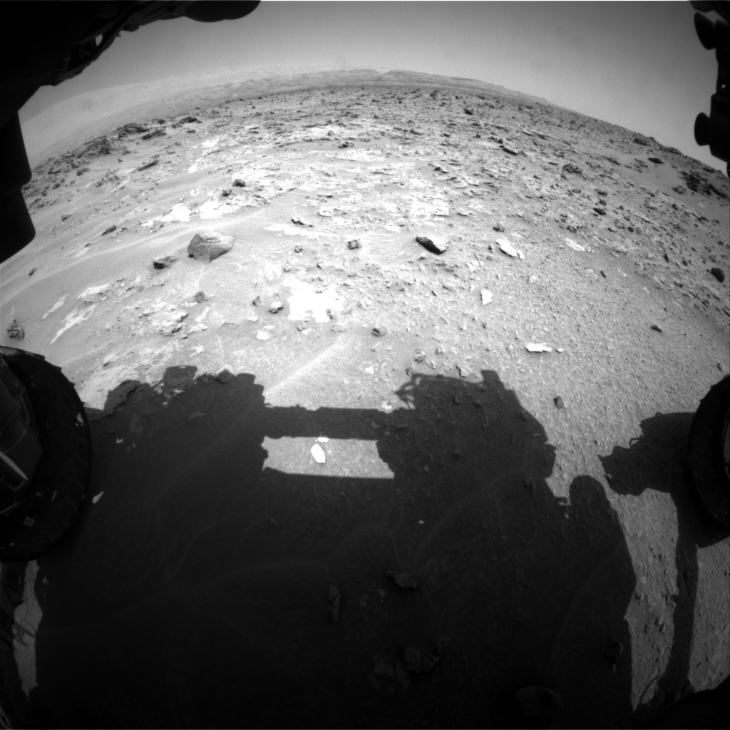 NASA's Mars rover Curiosity acquired this image using its Front Hazard Avoidance Cameras (Front Hazcams) on Sol 690