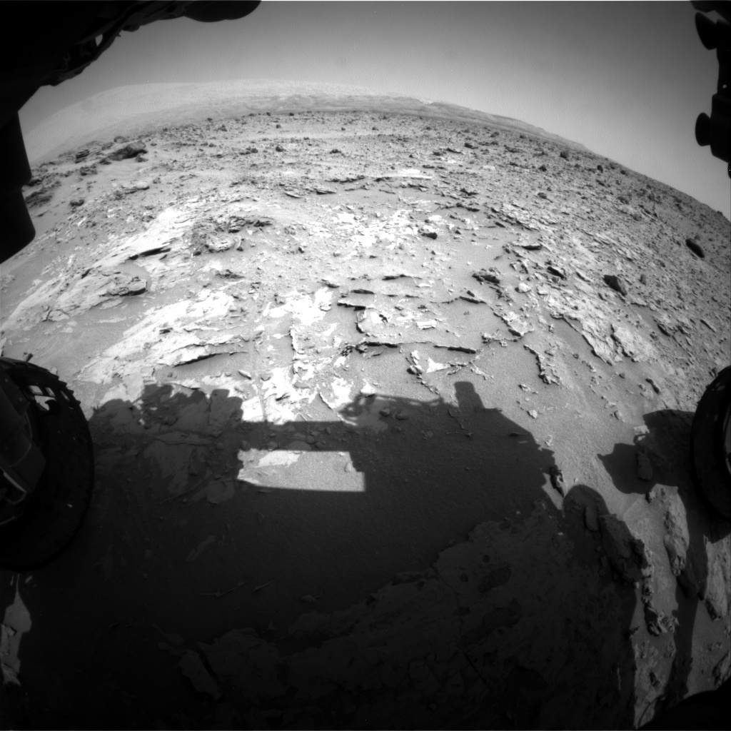 Nasa's Mars rover Curiosity acquired this image using its Front Hazard Avoidance Camera (Front Hazcam) on Sol 690, at drive 660, site number 39