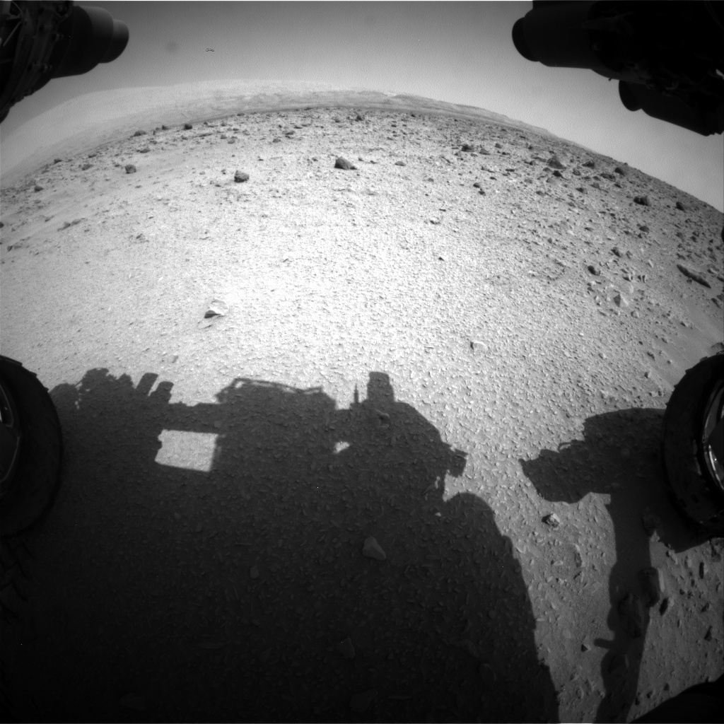 Nasa's Mars rover Curiosity acquired this image using its Front Hazard Avoidance Camera (Front Hazcam) on Sol 690, at drive 726, site number 39