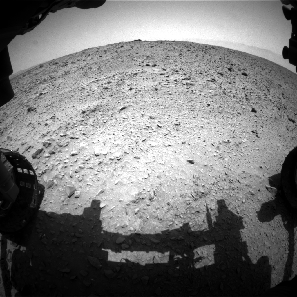 Nasa's Mars rover Curiosity acquired this image using its Front Hazard Avoidance Camera (Front Hazcam) on Sol 692, at drive 924, site number 39