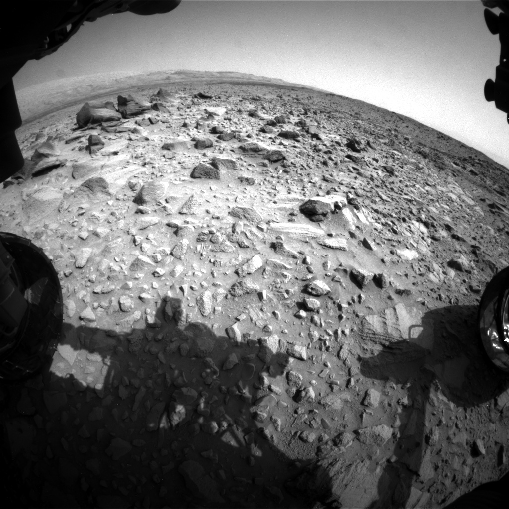NASA's Mars rover Curiosity acquired this image using its Front Hazard Avoidance Cameras (Front Hazcams) on Sol 692