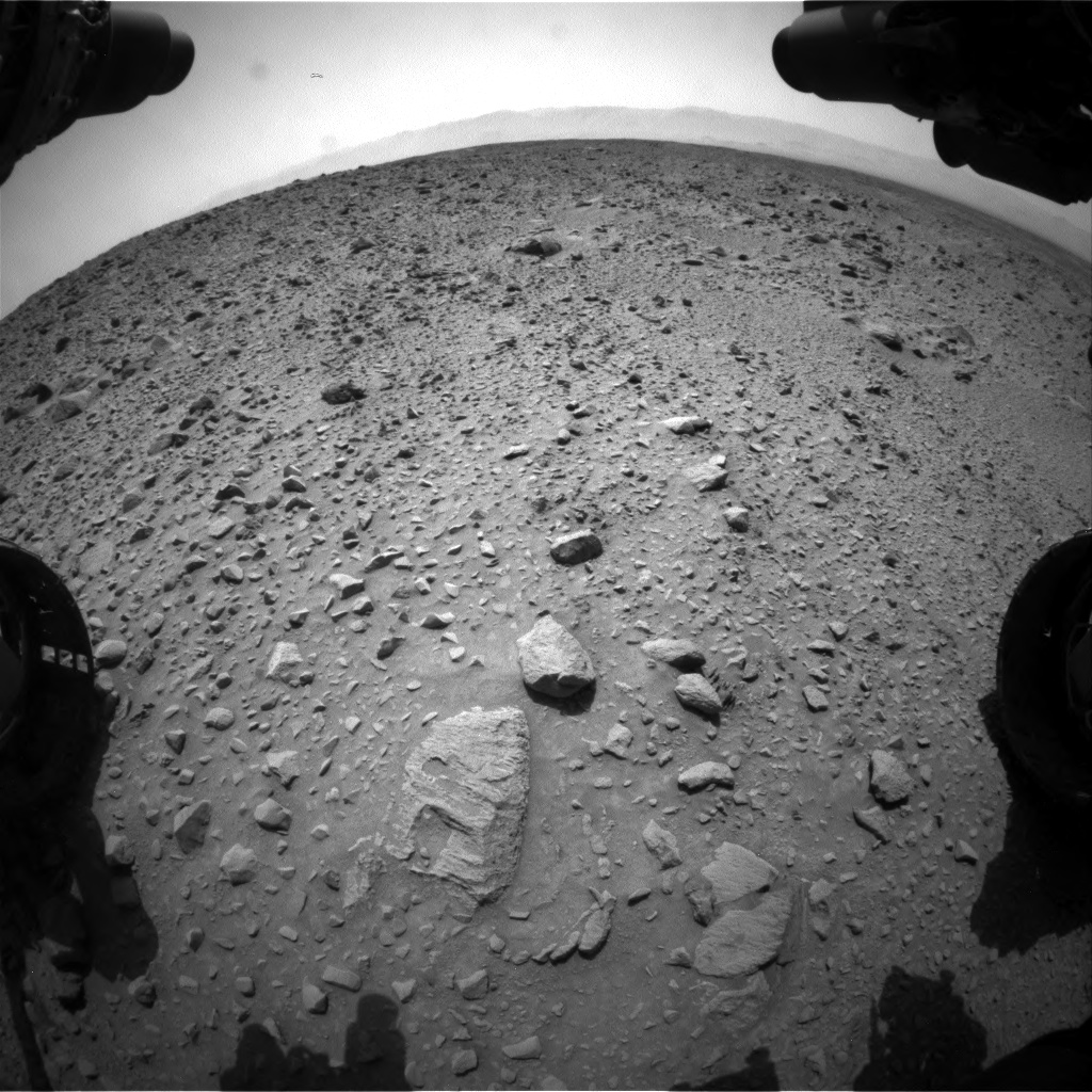 Nasa's Mars rover Curiosity acquired this image using its Front Hazard Avoidance Camera (Front Hazcam) on Sol 692, at drive 984, site number 39