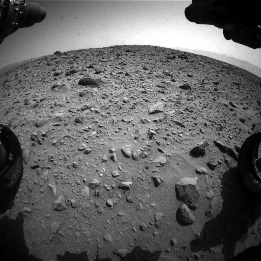 Nasa's Mars rover Curiosity acquired this image using its Front Hazard Avoidance Camera (Front Hazcam) on Sol 692, at drive 1080, site number 39