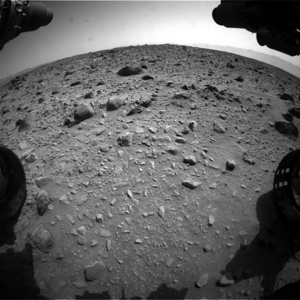 Nasa's Mars rover Curiosity acquired this image using its Front Hazard Avoidance Camera (Front Hazcam) on Sol 692, at drive 1116, site number 39