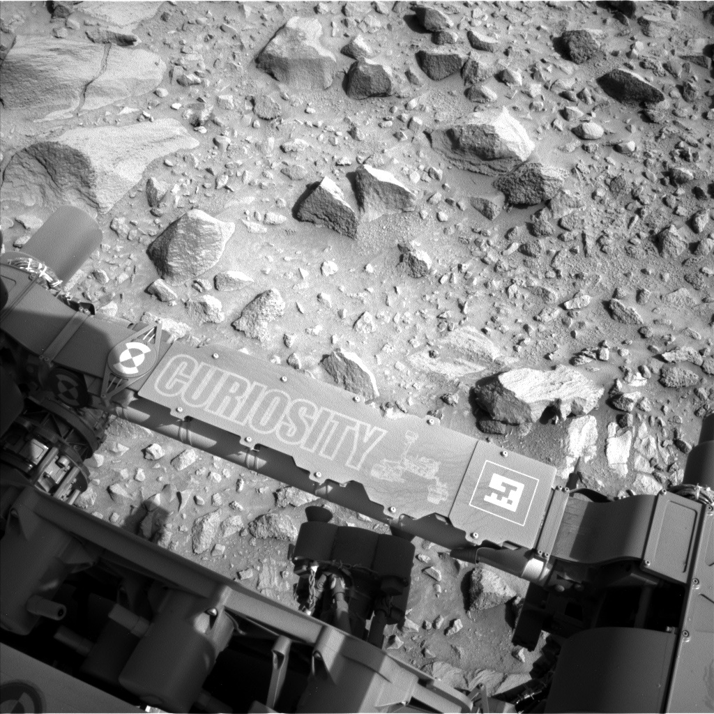 Nasa's Mars rover Curiosity acquired this image using its Left Navigation Camera on Sol 692, at drive 1176, site number 39