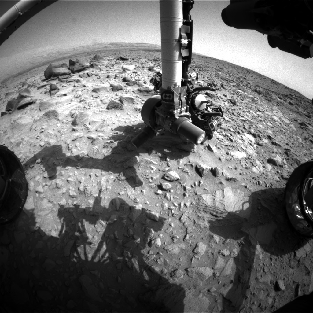 Nasa's Mars rover Curiosity acquired this image using its Front Hazard Avoidance Camera (Front Hazcam) on Sol 694, at drive 1176, site number 39