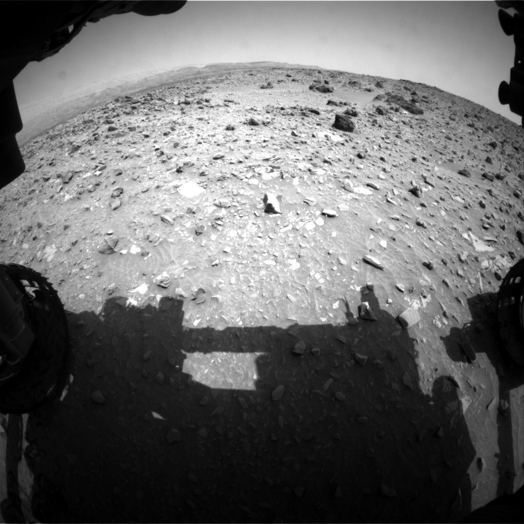 Nasa's Mars rover Curiosity acquired this image using its Front Hazard Avoidance Camera (Front Hazcam) on Sol 695, at drive 1396, site number 39