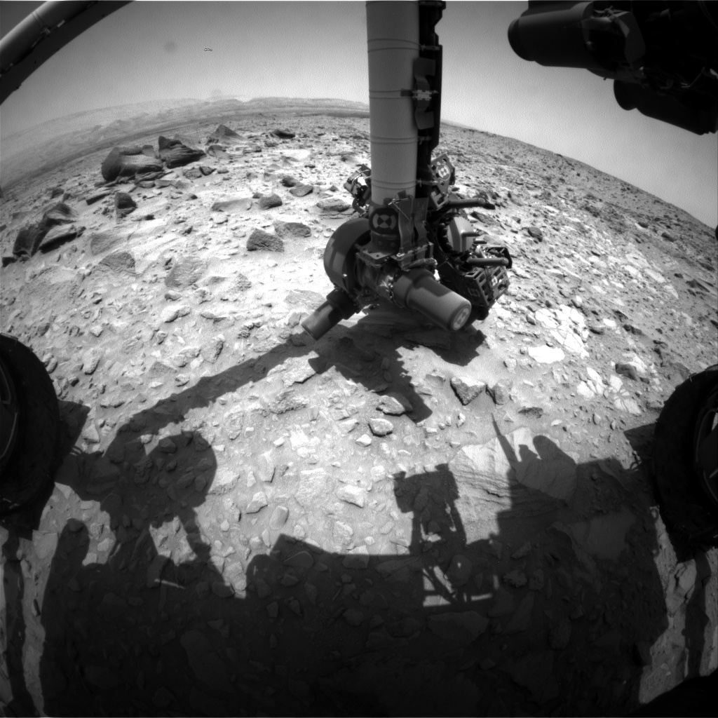 Nasa's Mars rover Curiosity acquired this image using its Front Hazard Avoidance Camera (Front Hazcam) on Sol 695, at drive 1176, site number 39