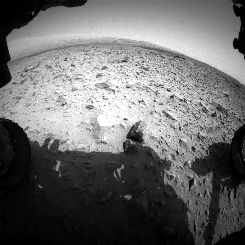 Nasa's Mars rover Curiosity acquired this image using its Front Hazard Avoidance Camera (Front Hazcam) on Sol 696, at drive 1552, site number 39
