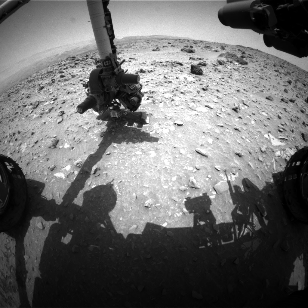 NASA's Mars rover Curiosity acquired this image using its Front Hazard Avoidance Cameras (Front Hazcams) on Sol 696