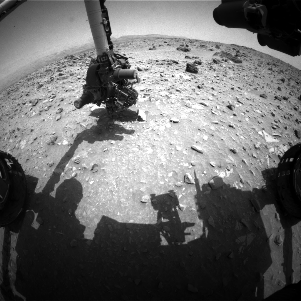 Nasa's Mars rover Curiosity acquired this image using its Front Hazard Avoidance Camera (Front Hazcam) on Sol 696, at drive 1396, site number 39