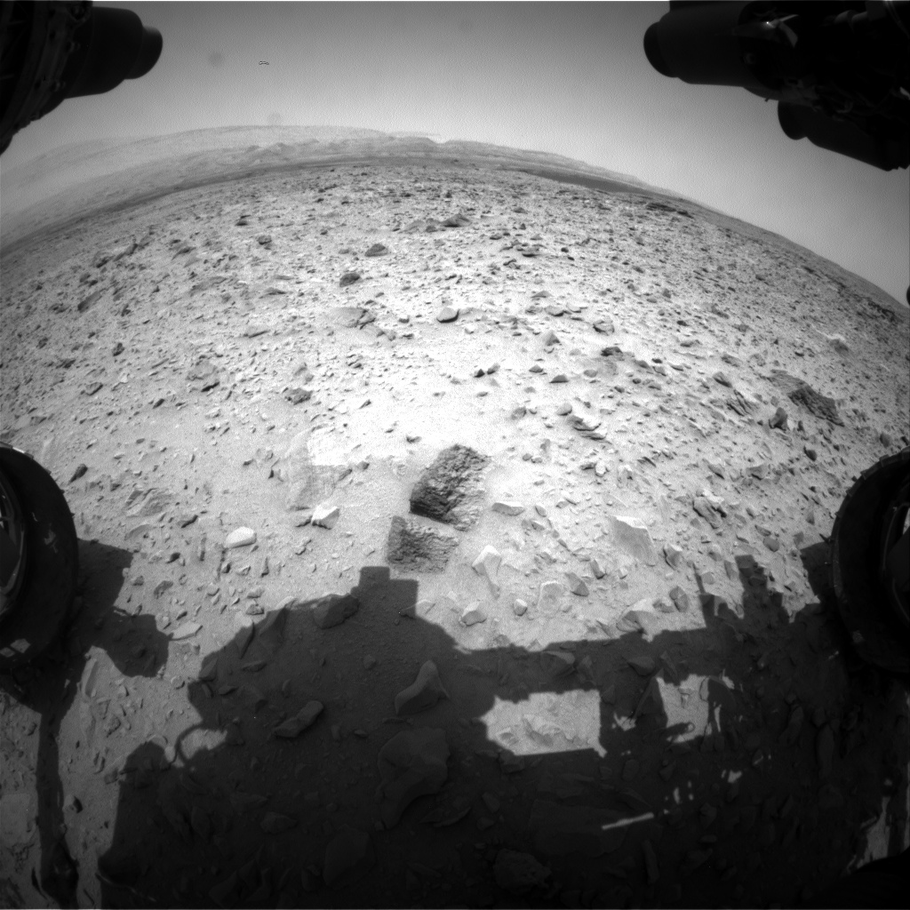 Nasa's Mars rover Curiosity acquired this image using its Front Hazard Avoidance Camera (Front Hazcam) on Sol 701, at drive 1552, site number 39