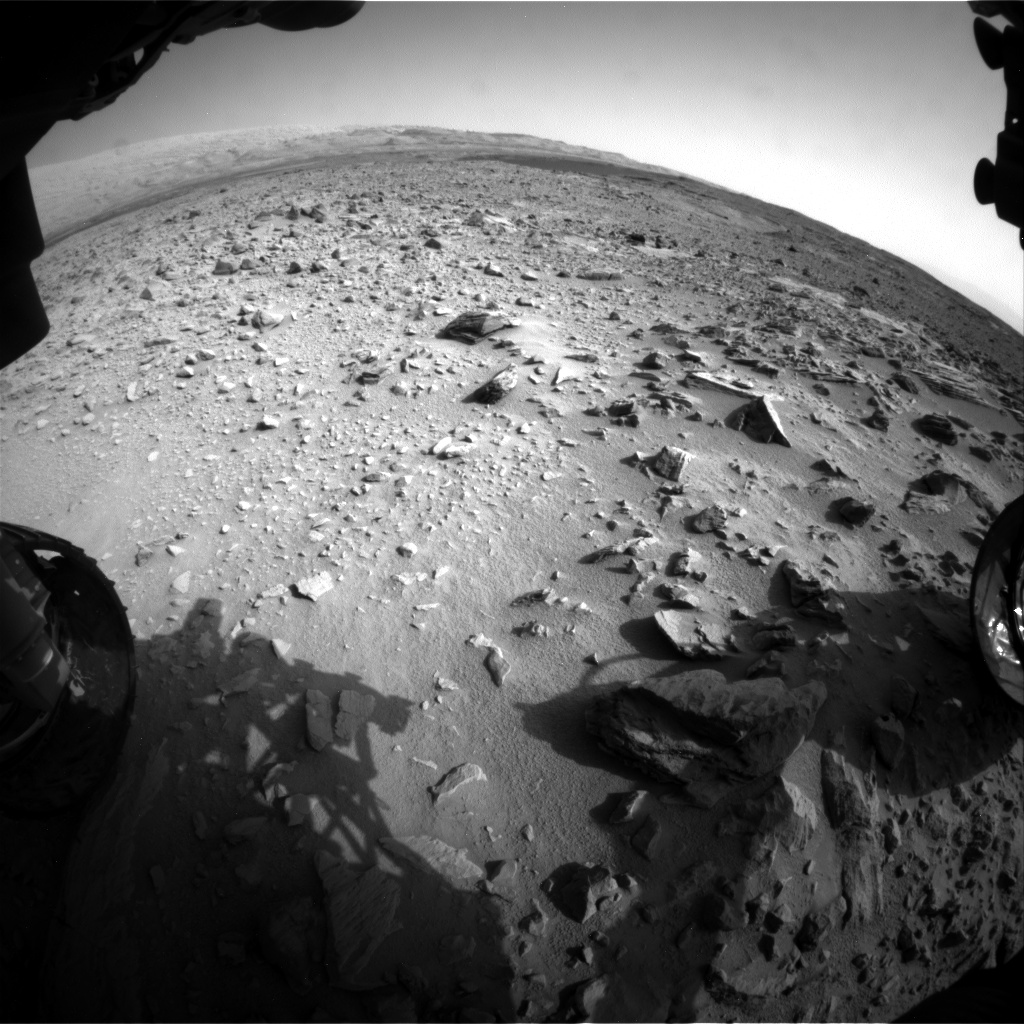 Nasa's Mars rover Curiosity acquired this image using its Front Hazard Avoidance Camera (Front Hazcam) on Sol 702, at drive 1666, site number 39