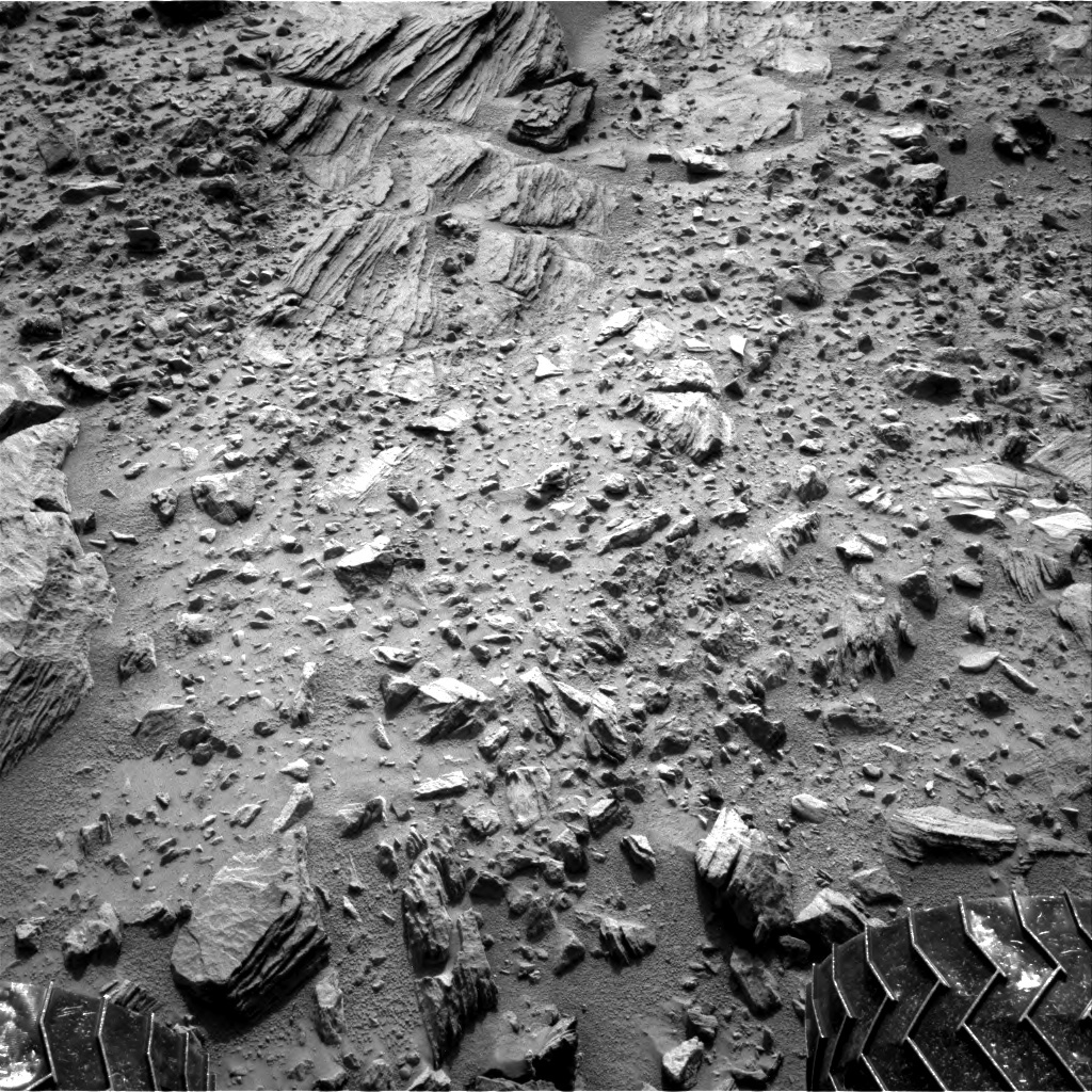 NASA's Mars rover Curiosity acquired this image using its Right Navigation Cameras (Navcams) on Sol 702