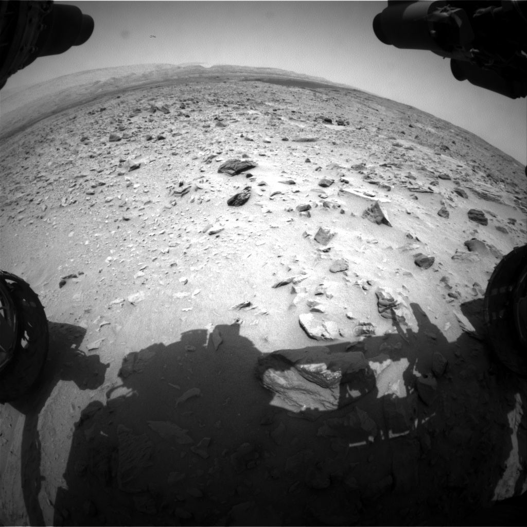 Nasa's Mars rover Curiosity acquired this image using its Front Hazard Avoidance Camera (Front Hazcam) on Sol 703, at drive 1666, site number 39