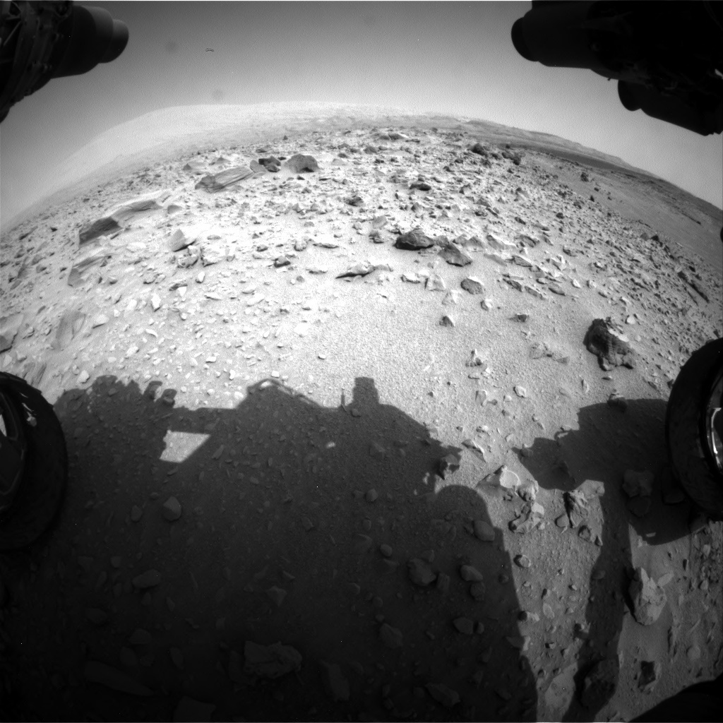 NASA's Mars rover Curiosity acquired this image using its Front Hazard Avoidance Cameras (Front Hazcams) on Sol 703