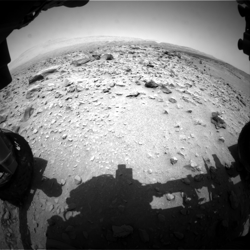 NASA's Mars rover Curiosity acquired this image using its Front Hazard Avoidance Cameras (Front Hazcams) on Sol 704