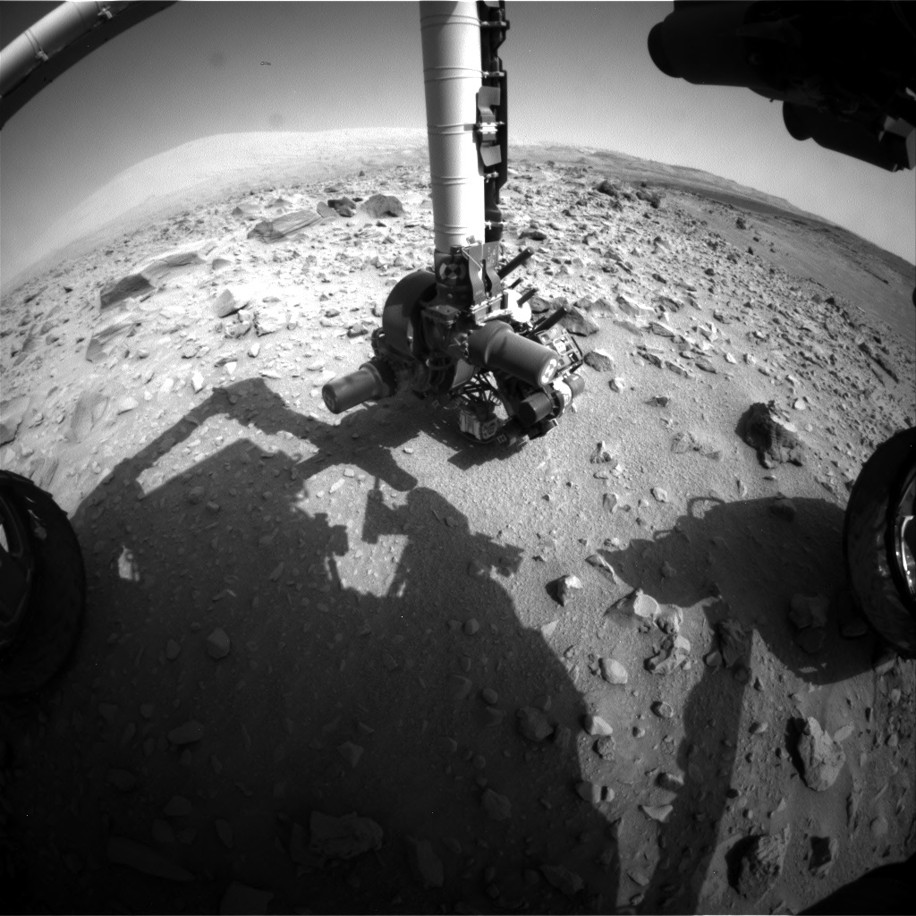 Nasa's Mars rover Curiosity acquired this image using its Front Hazard Avoidance Camera (Front Hazcam) on Sol 704, at drive 1888, site number 39