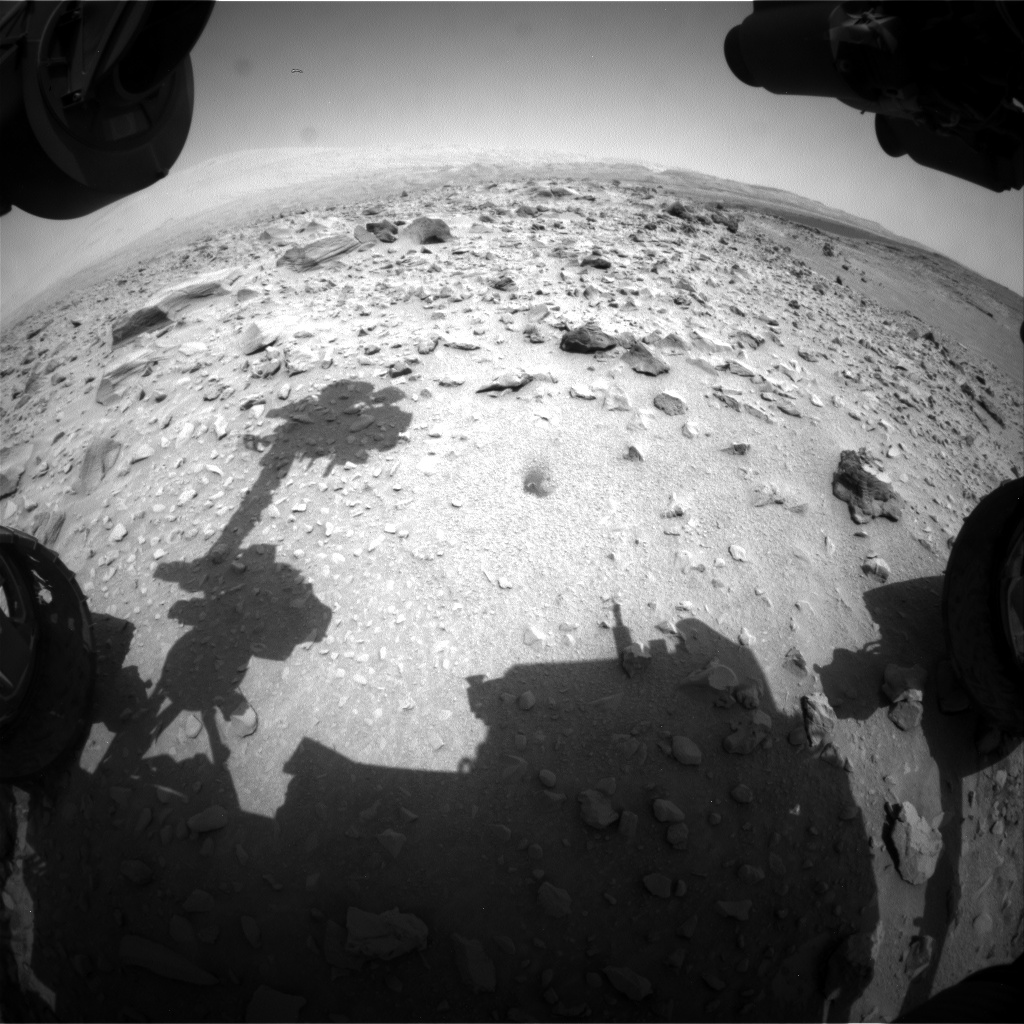 Nasa's Mars rover Curiosity acquired this image using its Front Hazard Avoidance Camera (Front Hazcam) on Sol 705, at drive 1888, site number 39