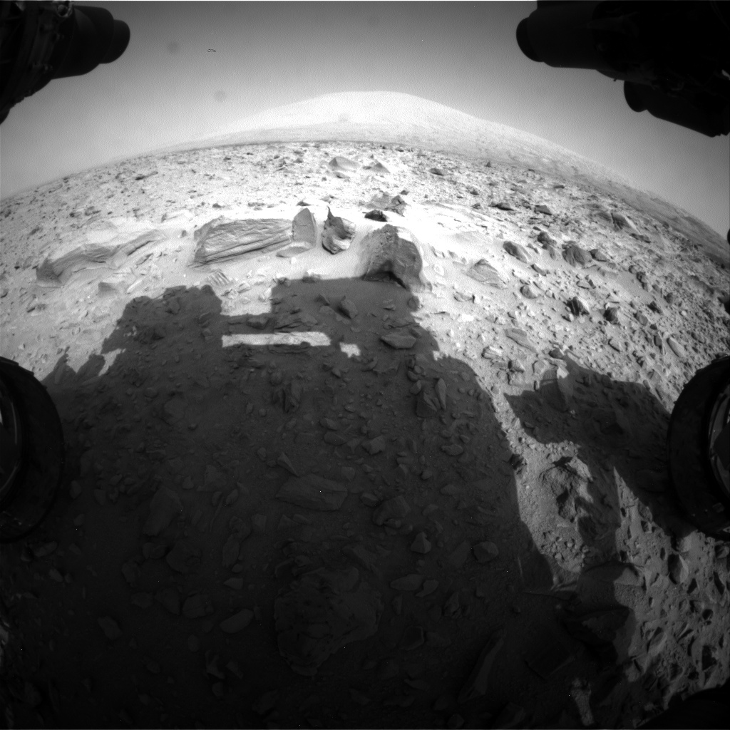 Nasa's Mars rover Curiosity acquired this image using its Front Hazard Avoidance Camera (Front Hazcam) on Sol 705, at drive 0, site number 40
