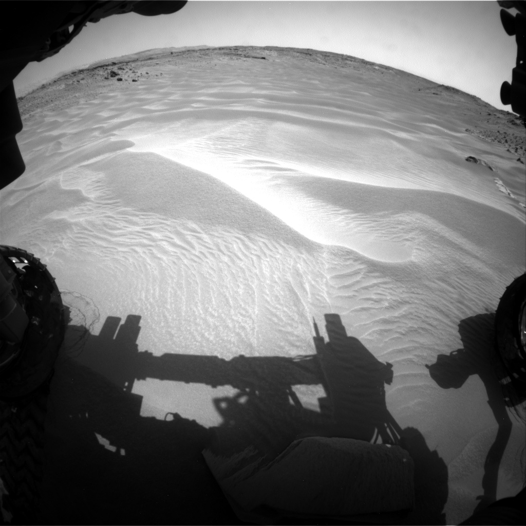 Nasa's Mars rover Curiosity acquired this image using its Front Hazard Avoidance Camera (Front Hazcam) on Sol 706, at drive 180, site number 40