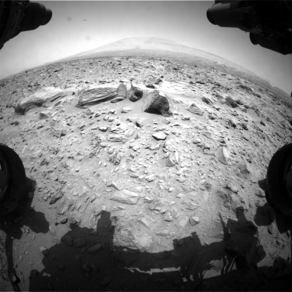 Nasa's Mars rover Curiosity acquired this image using its Front Hazard Avoidance Camera (Front Hazcam) on Sol 706, at drive 0, site number 40