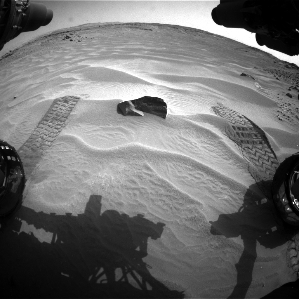 Nasa's Mars rover Curiosity acquired this image using its Front Hazard Avoidance Camera (Front Hazcam) on Sol 706, at drive 200, site number 40