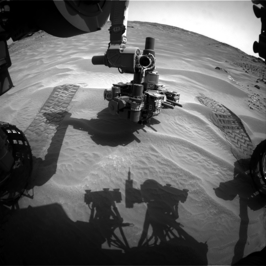 Nasa's Mars rover Curiosity acquired this image using its Front Hazard Avoidance Camera (Front Hazcam) on Sol 707, at drive 200, site number 40