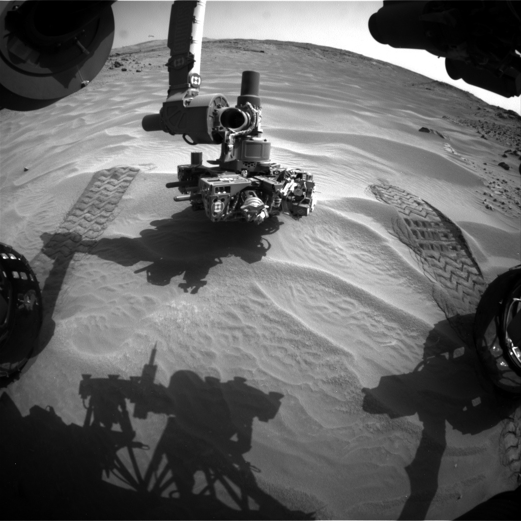 NASA's Mars rover Curiosity acquired this image using its Front Hazard Avoidance Cameras (Front Hazcams) on Sol 708