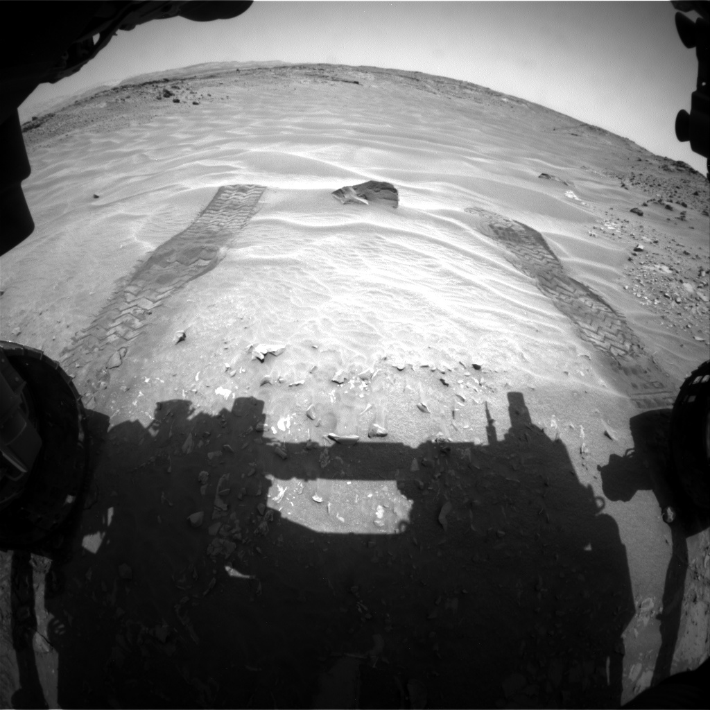 Nasa's Mars rover Curiosity acquired this image using its Front Hazard Avoidance Camera (Front Hazcam) on Sol 709, at drive 224, site number 40