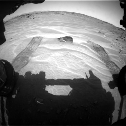 Nasa's Mars rover Curiosity acquired this image using its Front Hazard Avoidance Camera (Front Hazcam) on Sol 709, at drive 230, site number 40