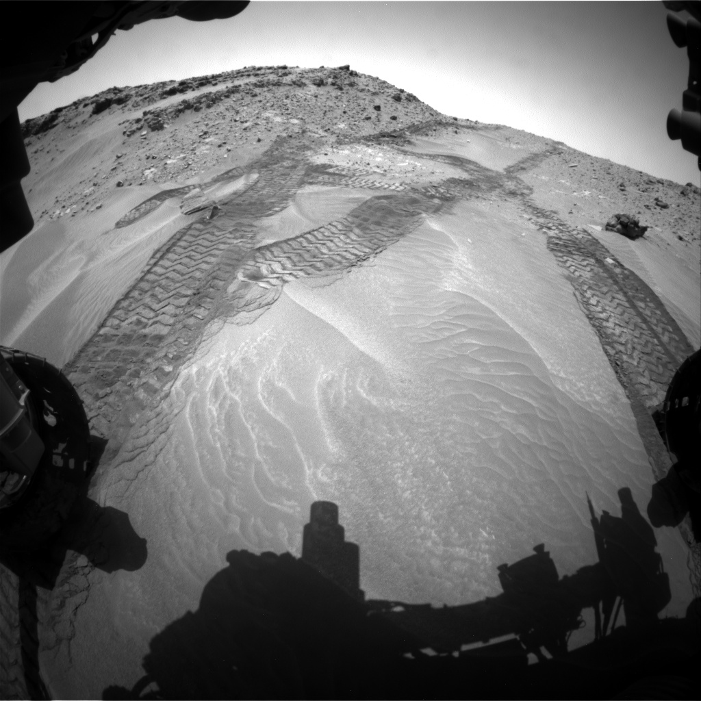 Nasa's Mars rover Curiosity acquired this image using its Front Hazard Avoidance Camera (Front Hazcam) on Sol 709, at drive 278, site number 40