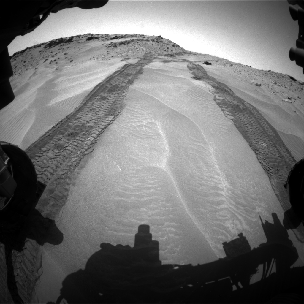 Nasa's Mars rover Curiosity acquired this image using its Front Hazard Avoidance Camera (Front Hazcam) on Sol 709, at drive 320, site number 40