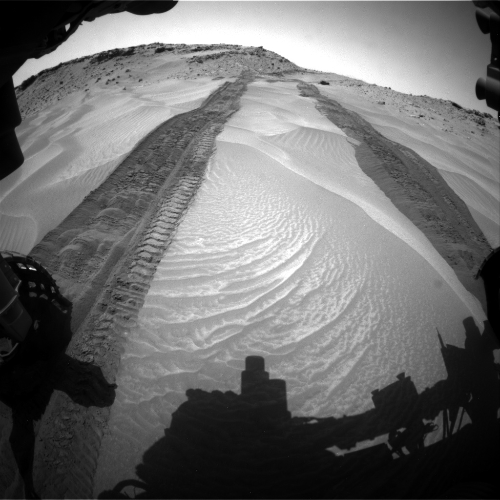 Nasa's Mars rover Curiosity acquired this image using its Front Hazard Avoidance Camera (Front Hazcam) on Sol 709, at drive 366, site number 40