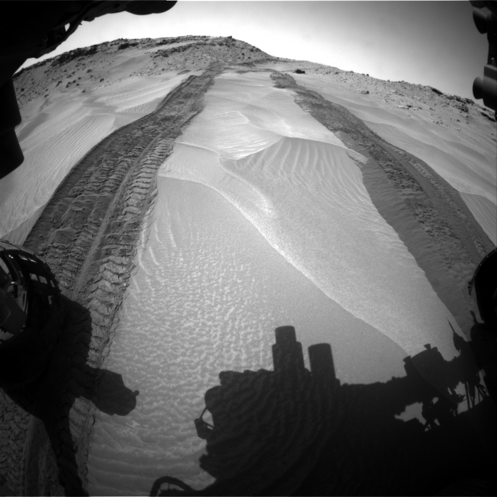 Nasa's Mars rover Curiosity acquired this image using its Front Hazard Avoidance Camera (Front Hazcam) on Sol 710, at drive 378, site number 40