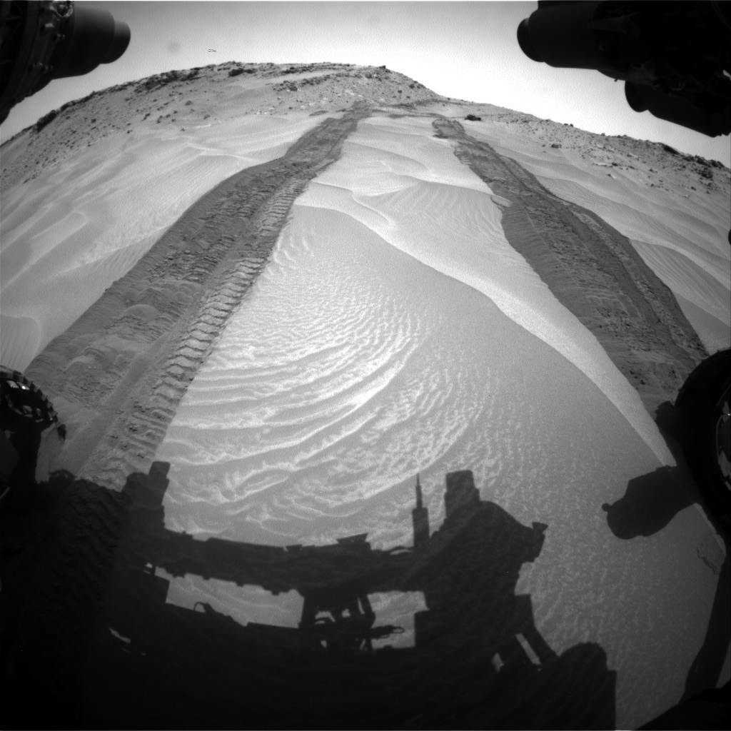 Nasa's Mars rover Curiosity acquired this image using its Front Hazard Avoidance Camera (Front Hazcam) on Sol 710, at drive 366, site number 40