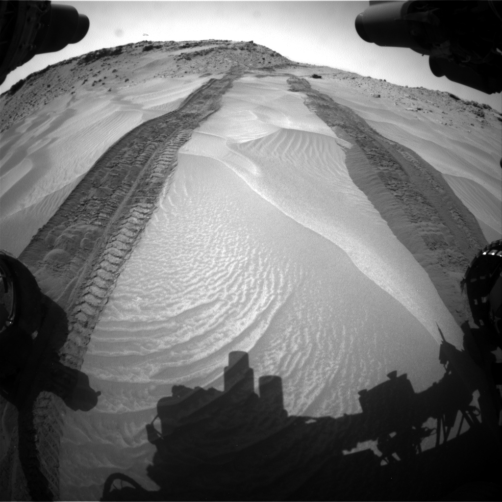 Nasa's Mars rover Curiosity acquired this image using its Front Hazard Avoidance Camera (Front Hazcam) on Sol 710, at drive 372, site number 40