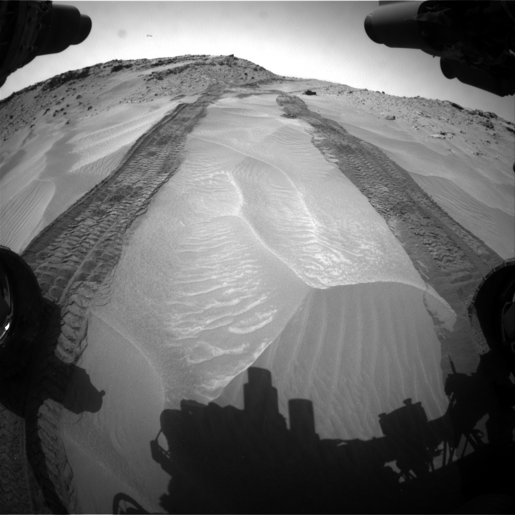 Nasa's Mars rover Curiosity acquired this image using its Front Hazard Avoidance Camera (Front Hazcam) on Sol 710, at drive 390, site number 40