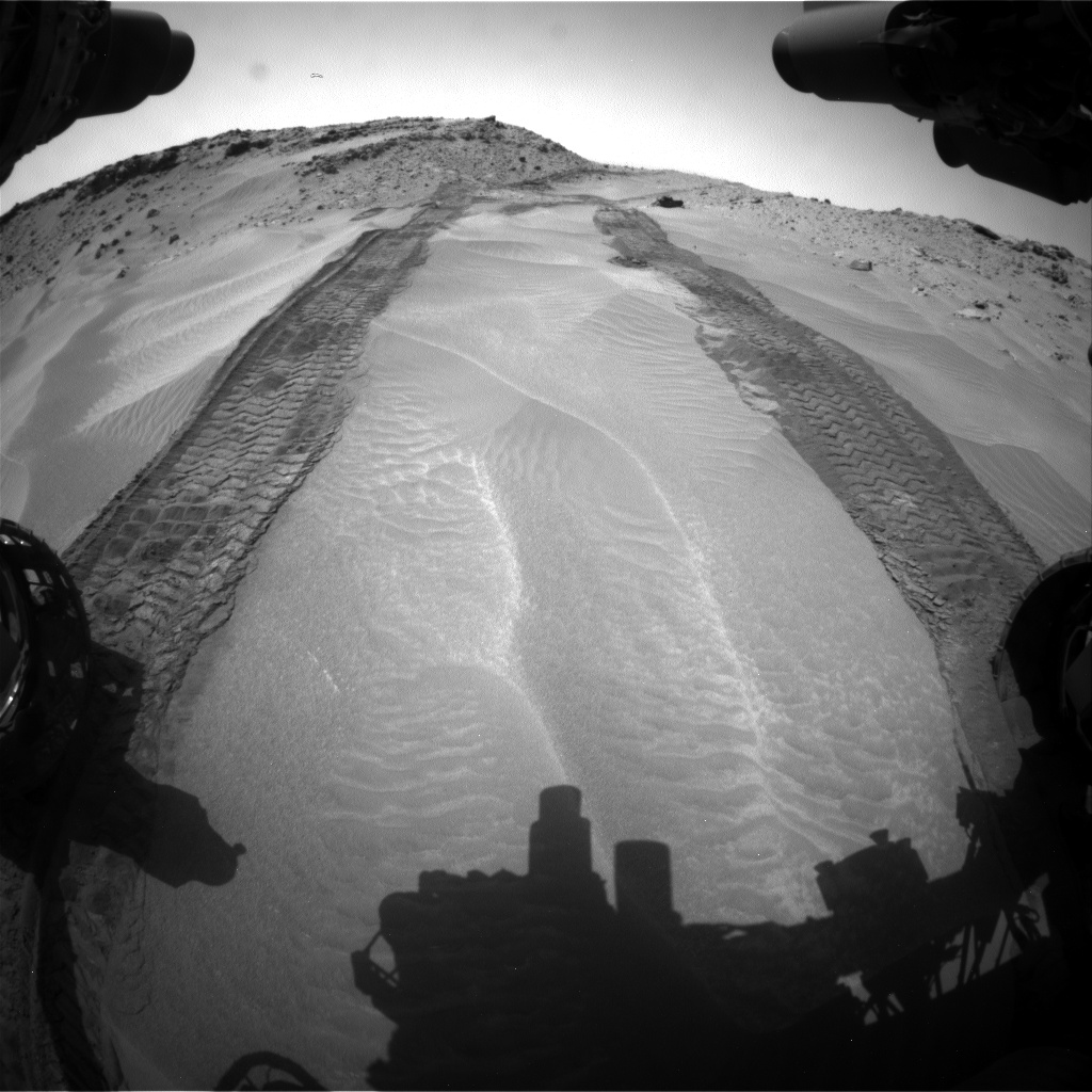 Nasa's Mars rover Curiosity acquired this image using its Front Hazard Avoidance Camera (Front Hazcam) on Sol 710, at drive 396, site number 40