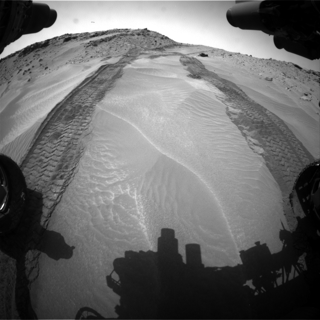 Nasa's Mars rover Curiosity acquired this image using its Front Hazard Avoidance Camera (Front Hazcam) on Sol 710, at drive 402, site number 40