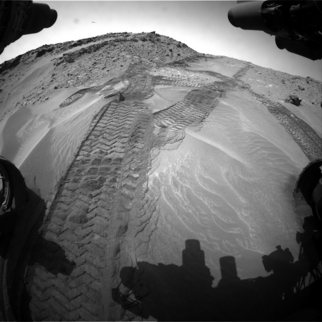 Nasa's Mars rover Curiosity acquired this image using its Front Hazard Avoidance Camera (Front Hazcam) on Sol 710, at drive 480, site number 40