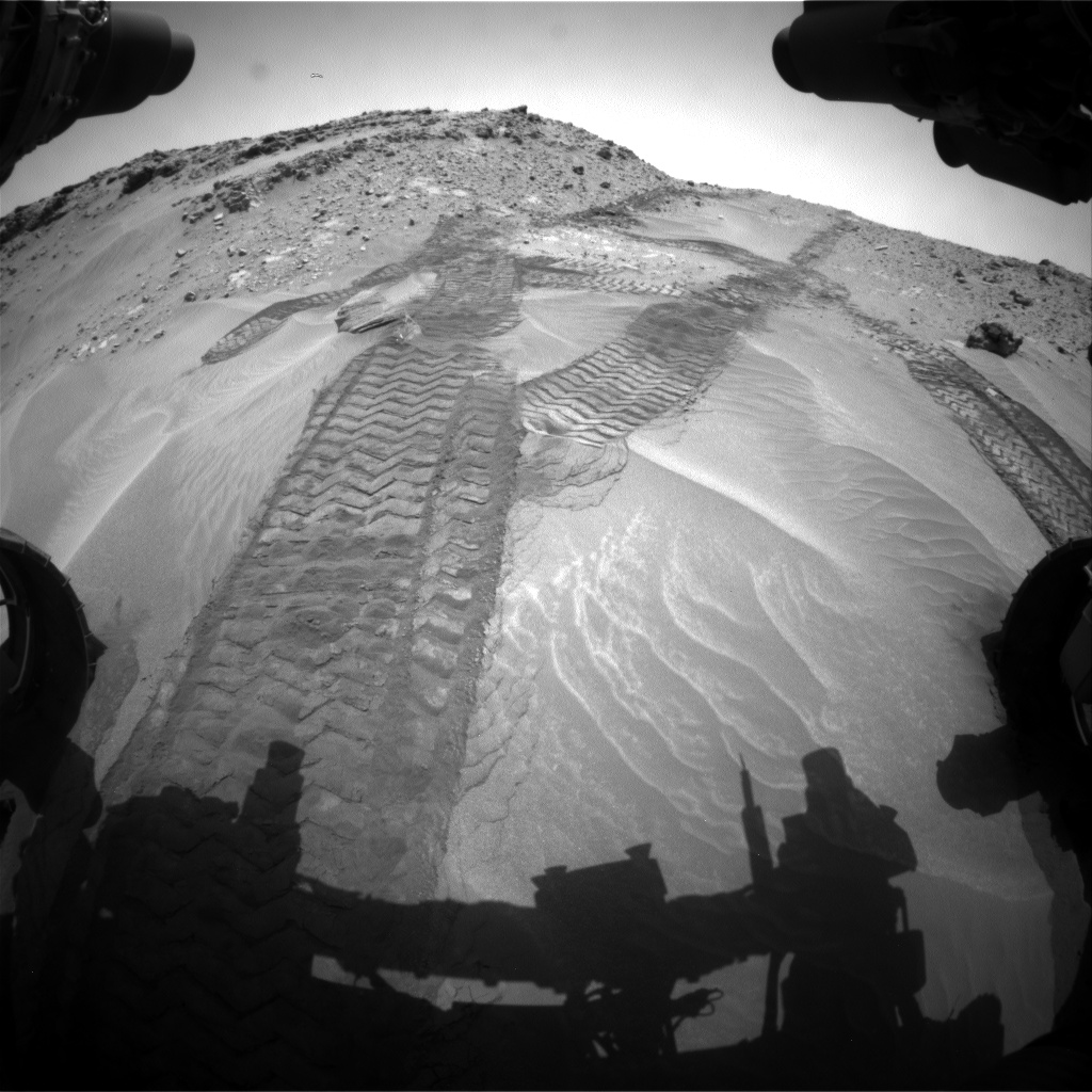 Nasa's Mars rover Curiosity acquired this image using its Front Hazard Avoidance Camera (Front Hazcam) on Sol 711, at drive 480, site number 40