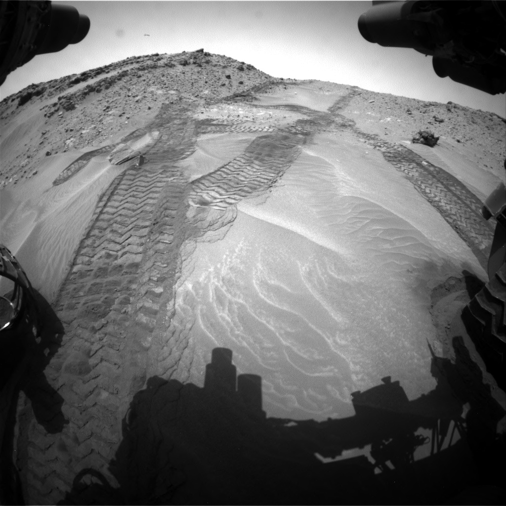 Nasa's Mars rover Curiosity acquired this image using its Front Hazard Avoidance Camera (Front Hazcam) on Sol 711, at drive 492, site number 40