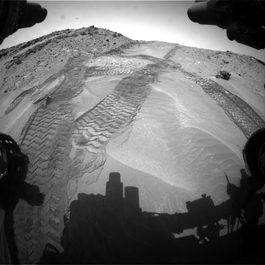 Nasa's Mars rover Curiosity acquired this image using its Front Hazard Avoidance Camera (Front Hazcam) on Sol 711, at drive 504, site number 40
