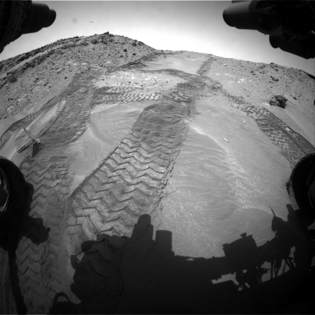 Nasa's Mars rover Curiosity acquired this image using its Front Hazard Avoidance Camera (Front Hazcam) on Sol 711, at drive 516, site number 40