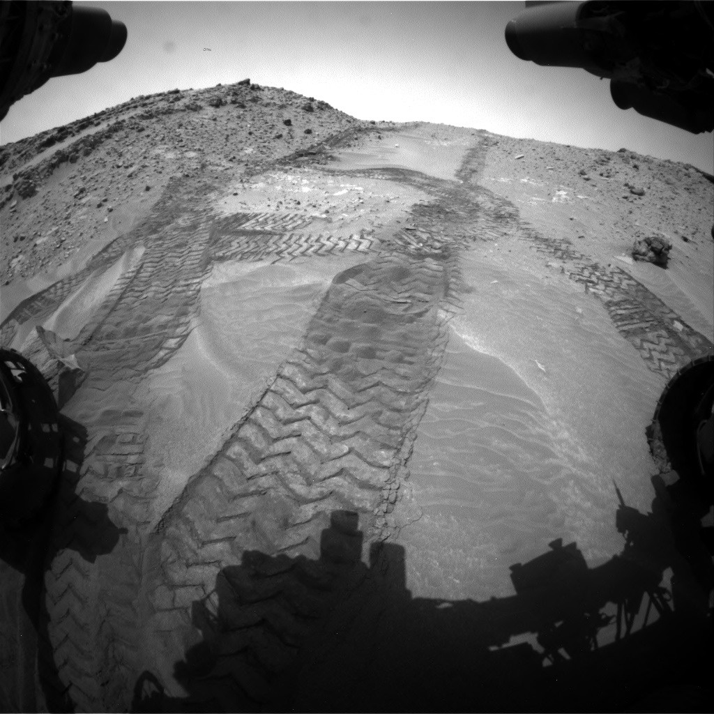 Nasa's Mars rover Curiosity acquired this image using its Front Hazard Avoidance Camera (Front Hazcam) on Sol 711, at drive 522, site number 40