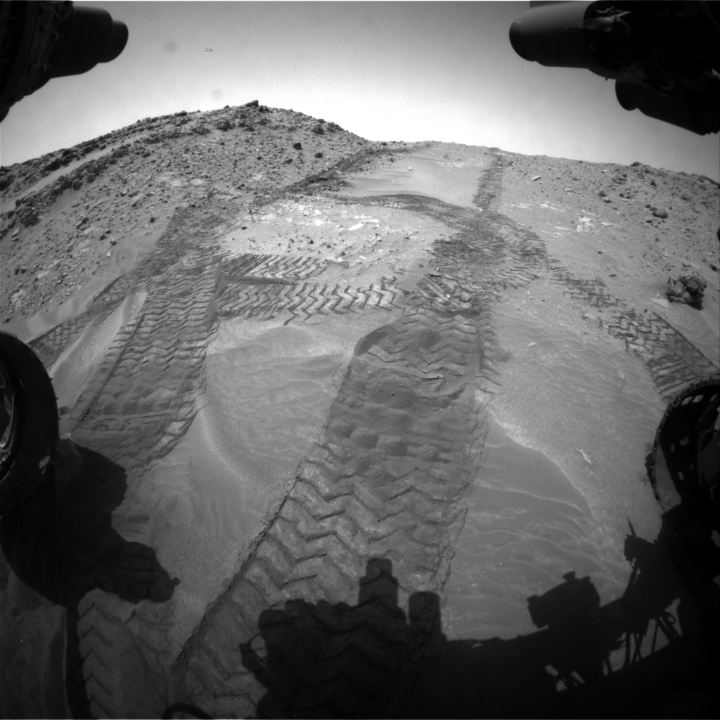 Nasa's Mars rover Curiosity acquired this image using its Front Hazard Avoidance Camera (Front Hazcam) on Sol 711, at drive 528, site number 40