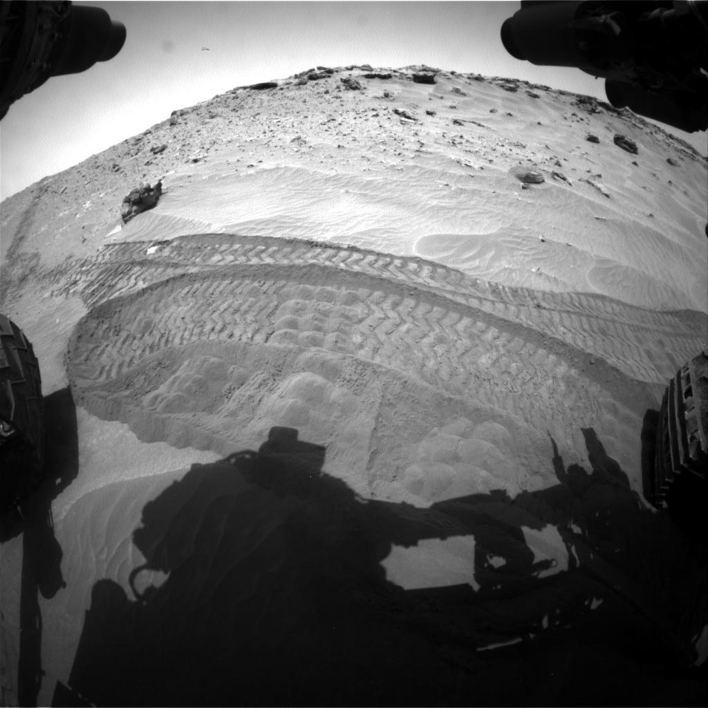 Nasa's Mars rover Curiosity acquired this image using its Front Hazard Avoidance Camera (Front Hazcam) on Sol 713, at drive 540, site number 40