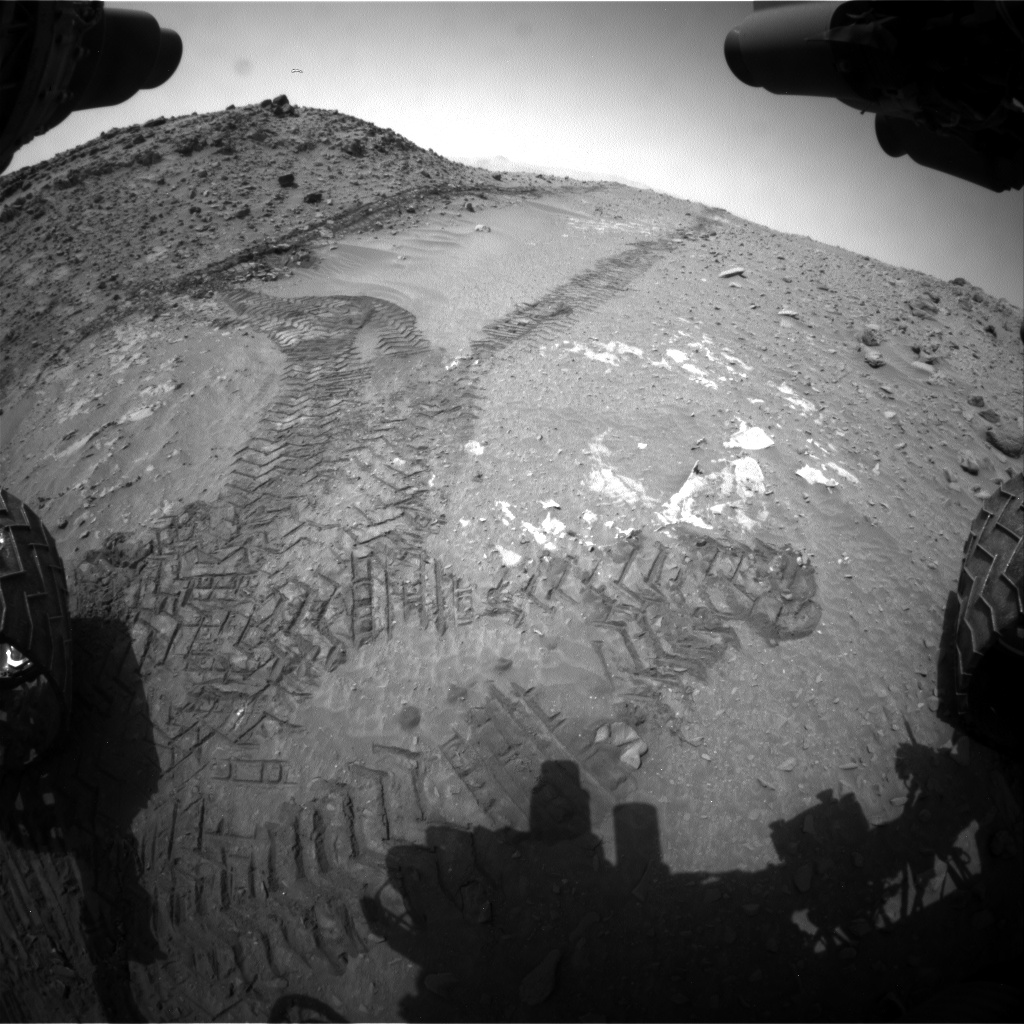 Nasa's Mars rover Curiosity acquired this image using its Front Hazard Avoidance Camera (Front Hazcam) on Sol 713, at drive 624, site number 40